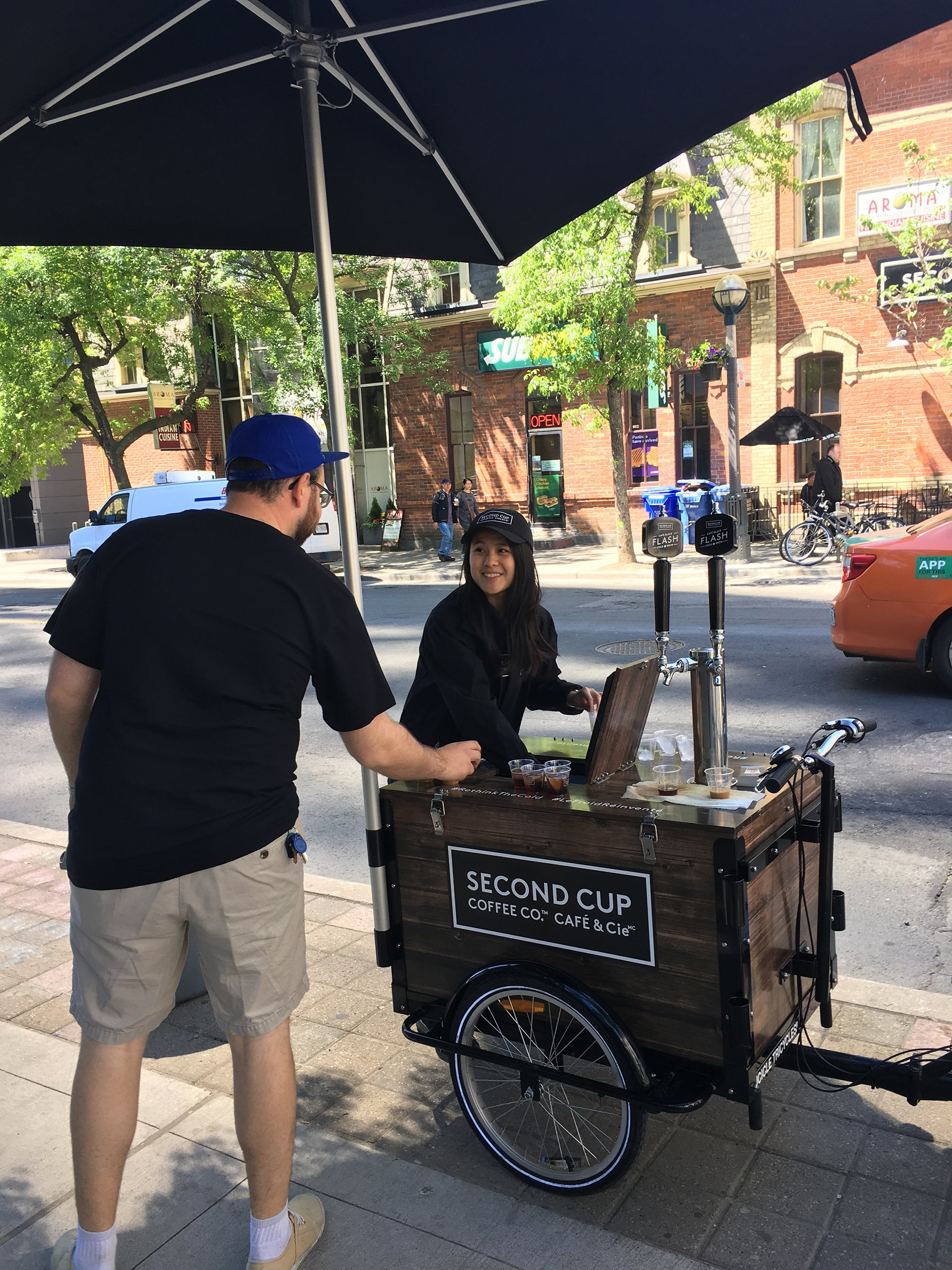 experiential coffee sampling trike