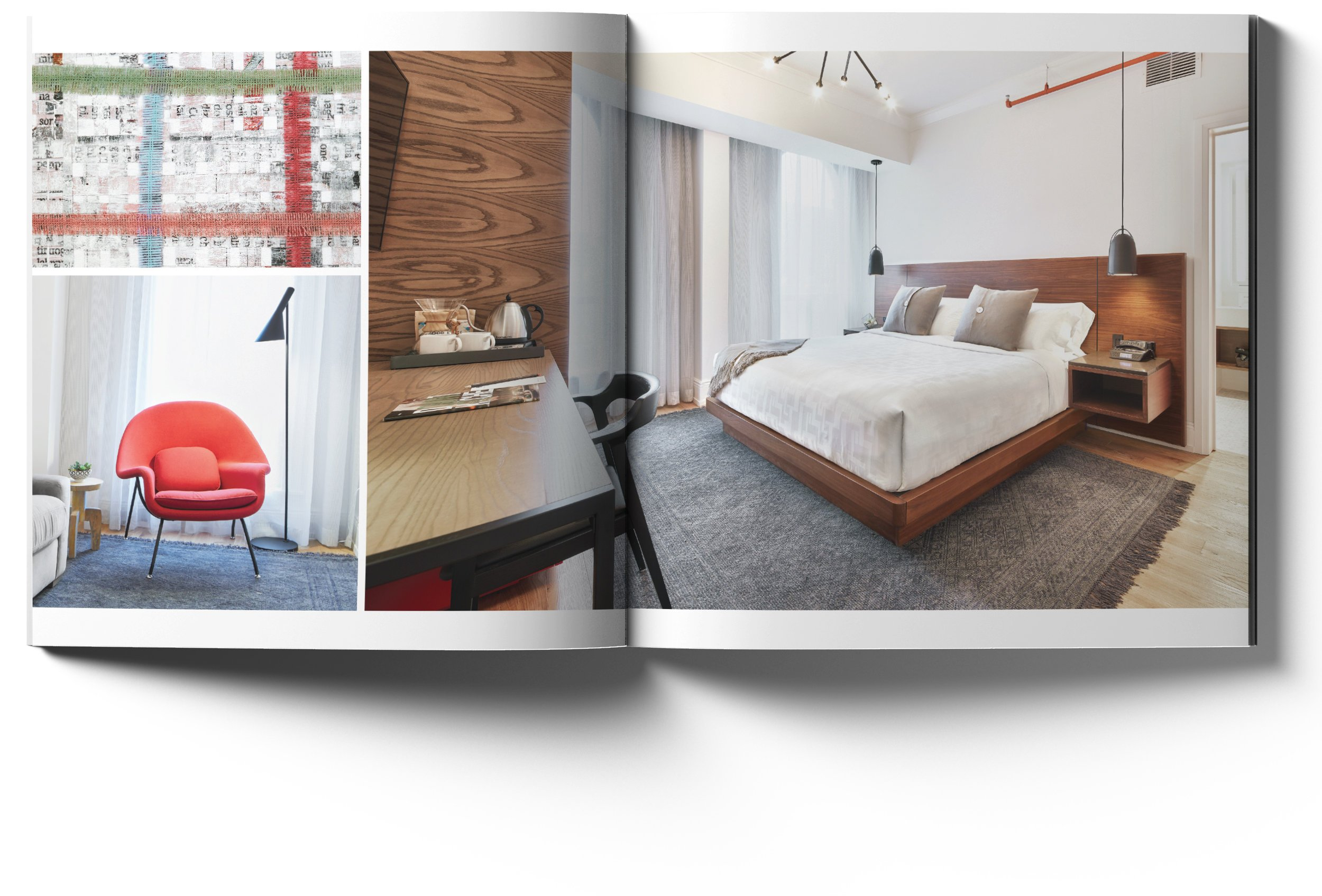 Hotel look book spread