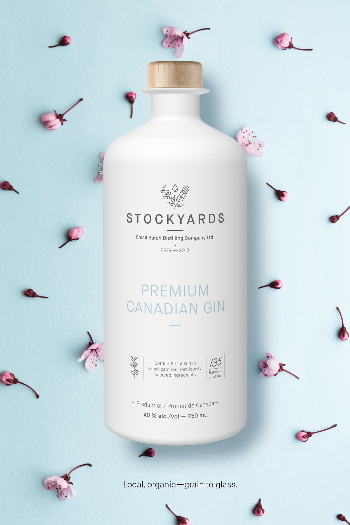 gin package design and branding