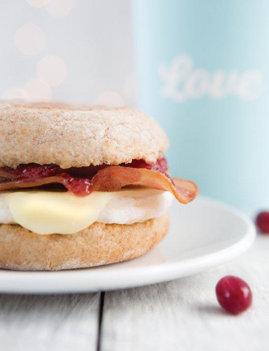 Food photography breakfast sandwich