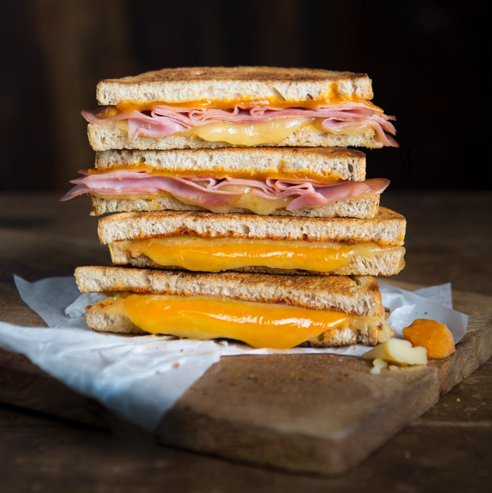 Food photography grilled cheese