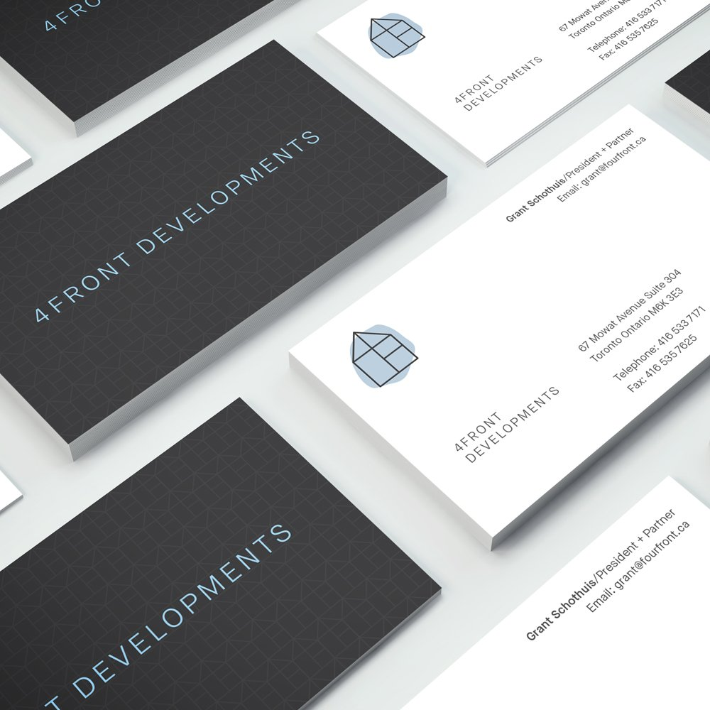 fourfront developments business cards