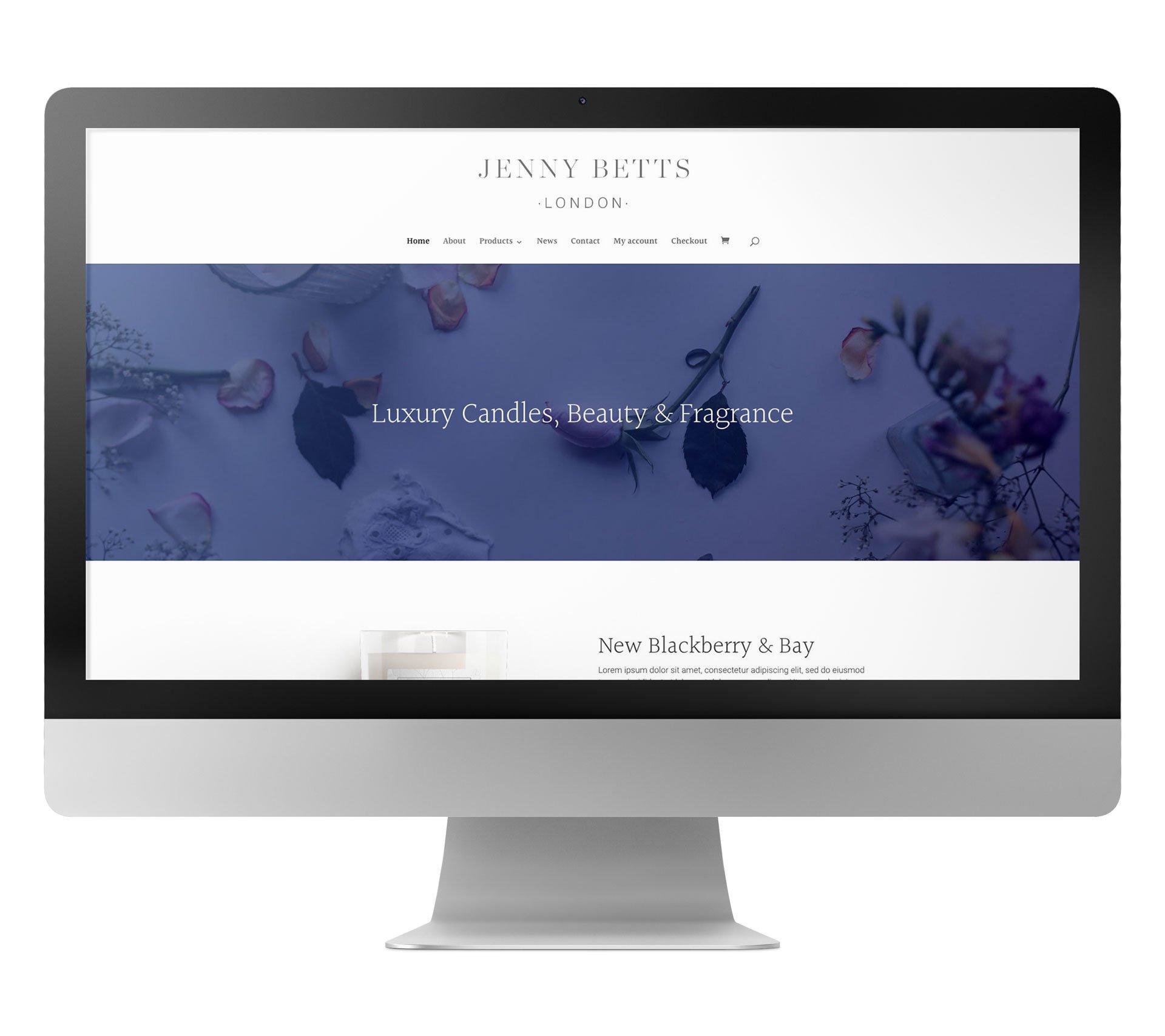 Jenny Betts website design