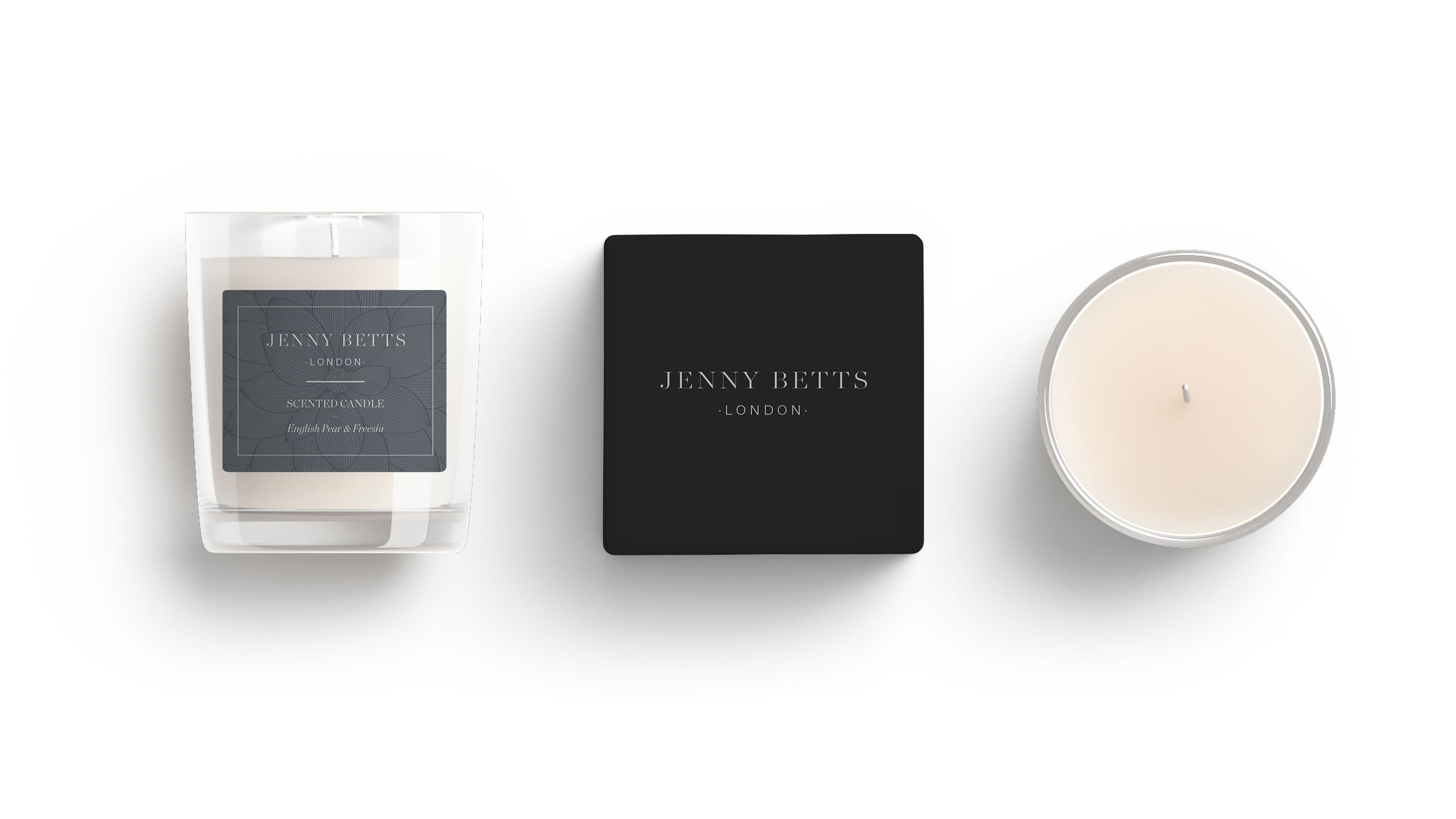 Jenny Betts candle packaging
