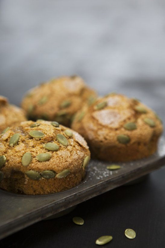Food photography muffins
