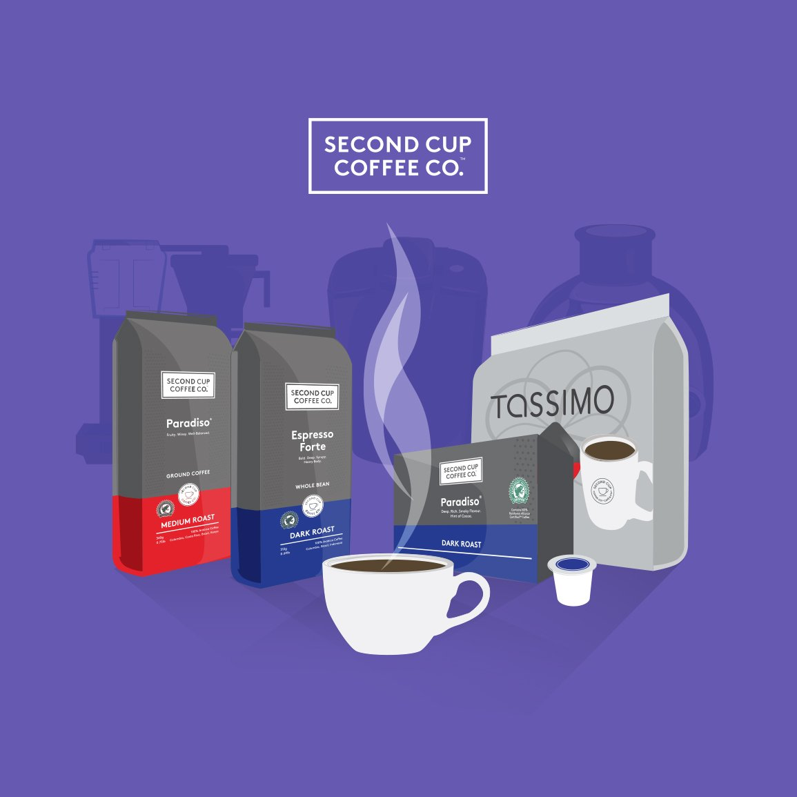 coffee advertising campaign design and video