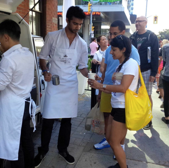 Flat White experiential campaign