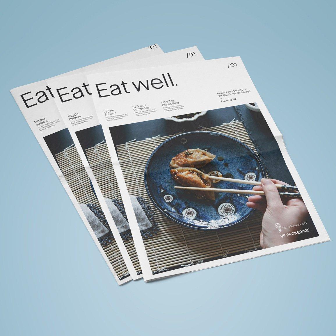 food magazine branding and design